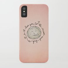 I Love You To The Moon And Back Slim Case iPhone X