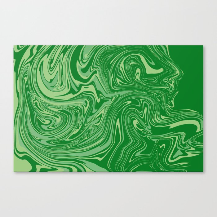 Green pastel abstract marble Leinwanddruck