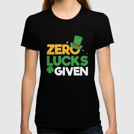 Zero Lucks Given St Patrick's Day T-shirt