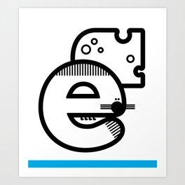 ABC :E Art Print