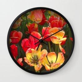 Theory of Tulips Wall Clock