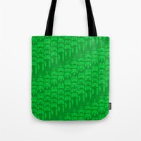 video game Tote Bags featuring Video Game Controllers - Green by C.Rhodes Design