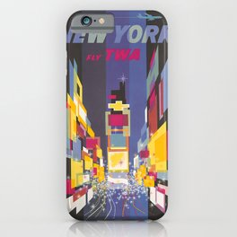 Fly TWA New York iPhone Case