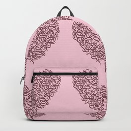 small harts arabic letters pink and red Backpack