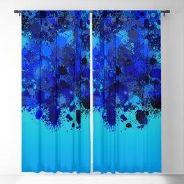 paint splatter on gradient pattern bl Blackout Curtain
