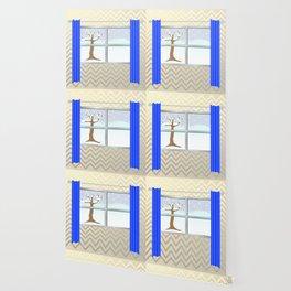 Window view in winter Wallpaper