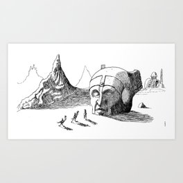 Arrival at the Ruins Art Print