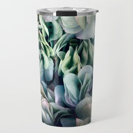 Soft Subtle Petal Ruffles Abstract  Travel Mug