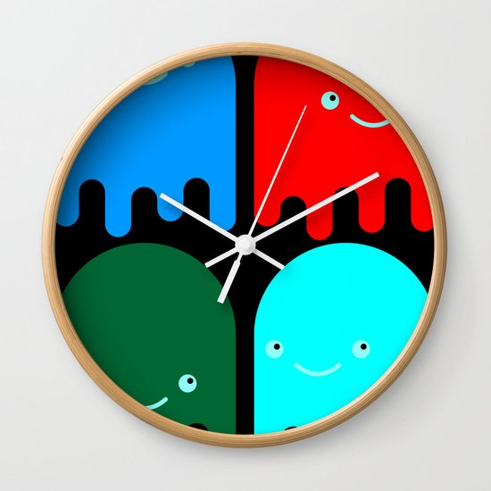 Friendly Ghosts Wall Clock