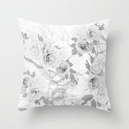 Floral Blur Throw Pillow