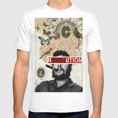 Public Figures Collection - Che Guevara MEDIUM White Mens Fitted Tee