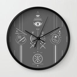 Mystical signs  Wall Clock