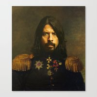 birthday Canvas Prints featuring Dave Grohl - replaceface by replaceface