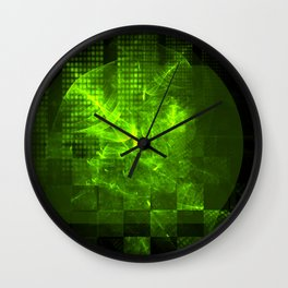 Electric Cosmos Wall Clock