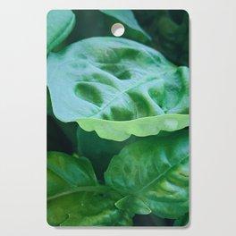 Green Basil Cutting Board