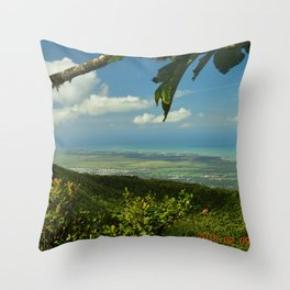 View of the Puerto Rico East Coast - from El Yunque rainforest Throw Pillow