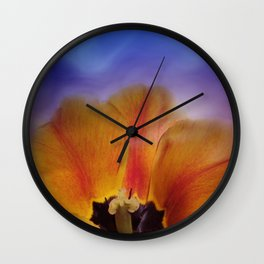 tulips in spring -2- Wall Clock