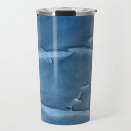 Steel blue blurred wash drawing design Travel Mug