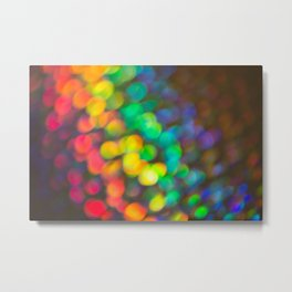 Rainbow Bokeh 1 Metal Print