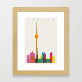 Shapes of Berlin accurate to scale Framed Art Print