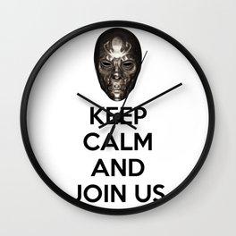 Keep Calm And Jon Us Wall Clock