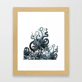 Octoworm (blue version) Framed Art Print