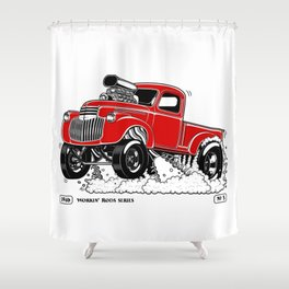 1946 Chevy Pick-up – RED Shower Curtain