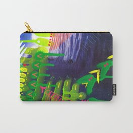 Wave green Carry-All Pouch