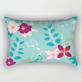 Exotic Flower Pattern Rectangular Pillow