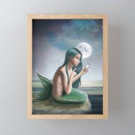 Hello? (Disconnected) Framed Mini Art Print