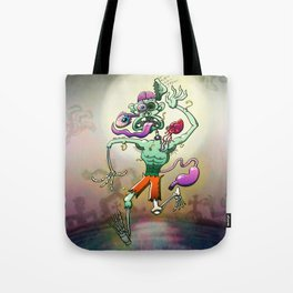 Zombie in Trouble Falling Apart Tote Bag