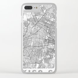 Mexico Map Line Clear iPhone Case