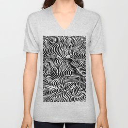 black flow Unisex V-Neck