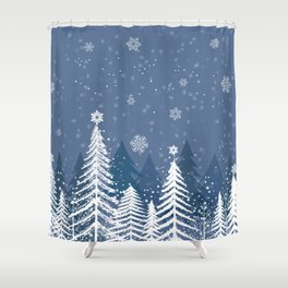Winter Snow Forest Shower Curtain