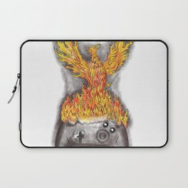 Phoenix Rising Over Game Controller Tattoo Laptop Sleeve