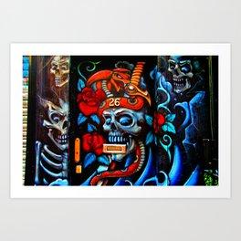 Skull Graffiti Street Art Camden London Art Print