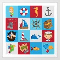 Ahoy There! Art Print