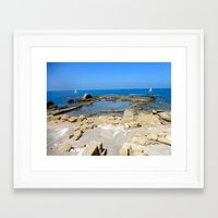 israel Framed Art Prints featuring Caesarea, Israel by Camille Renee