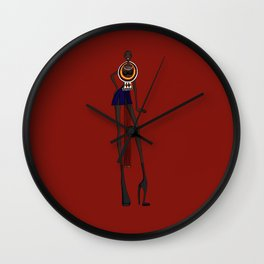 Masaii girl Wall Clock