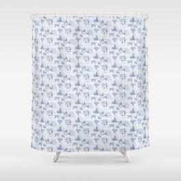 Winnipeg Summer Toile Shower Curtain