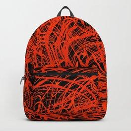 orange swirls Backpack