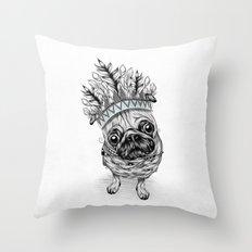 Indian Pug  Throw Pillow