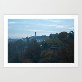Luxembourg Skyline Art Print