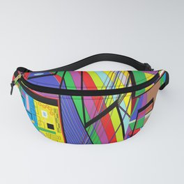 Geometry Abstract Fanny Pack