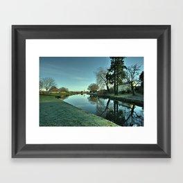 Moorings Reflections Framed Art Print