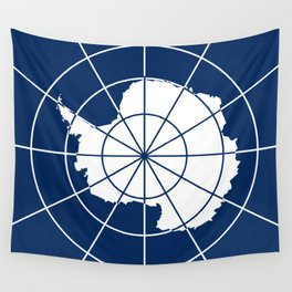 Flag of Antarctica Wall Tapestry