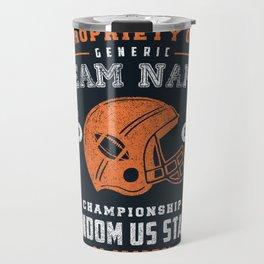 Generic Football T-Shirt Travel Mug