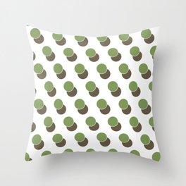 Green Dot Spot Geometric Print Throw Pillow