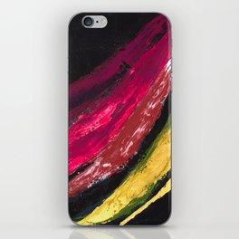 SWISH | Textured acrylic abstract art by Natalie Burnett Art iPhone Skin