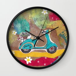 You are my Greatest Adventure - Turquoise Vespa  Wall Clock